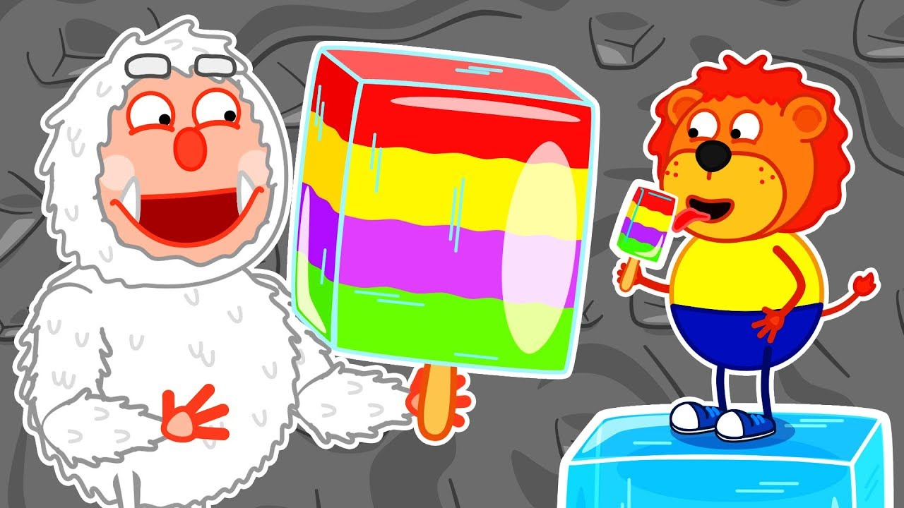 Lion Family ? Journey to the Center of the Earth #10. Rainbow Ice cream | Cartoon for Kids