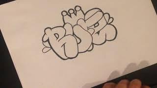 как рисовать граффити (RUFE)
