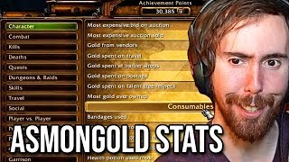 Asmongold Shows His WoW Statistics On Stream (Total Gold Acquired, Total Kills/Deaths, PvP/PvE)
