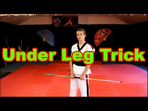 Bo Staff Training: Bo Staff Under Leg Trick Tutorial | Tricks & Tricking  For Competition
