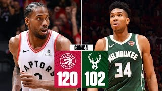 Kawhi, Raptors even series vs. Bucks with statement win in Game 4 | 2019 NBA Playoff Highlights