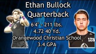 QB Ethan Bullock Highlights taken on 01MAY16