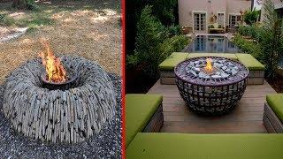 Outdoor Garden Fireplace Ideas and Garden Fire Pit Design