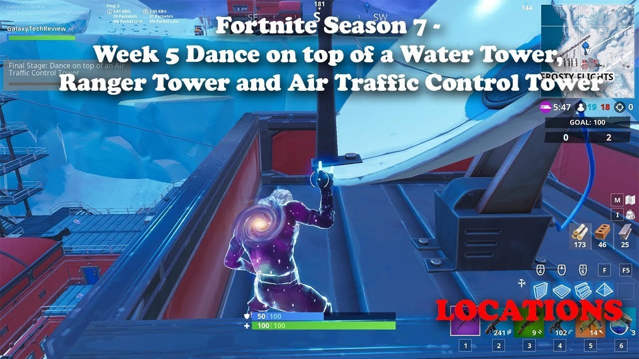 Air Traffic Control Tower Locations Fortnite Fortnite Dance On Top Of A Water Tower A Ranger Tower And An Air Traffic Control Tower Locations Youtube