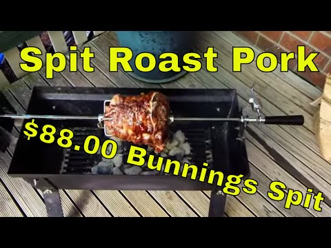 Spit Roast Pork 88 Dollar Bunnings Spit