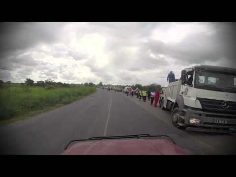 Day 29 Accident on the road, Angola