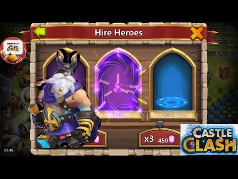 Castle Clash 9,000 Gem Rolling Plus Warehouse Items