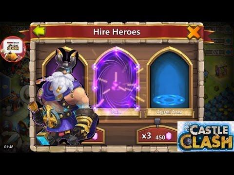 Castle Clash 9,000 Gem Rolling Plus Warehouse Items