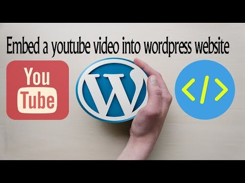 How to embed a youtube video into a wordpress website post - hindi