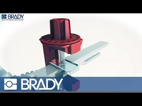 Brady Lockout Tagout Device Movie: Butterfly valve lockout