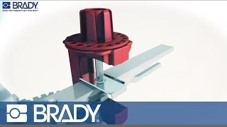 Brady Lockout Tagout Device Movie: Butterfly valve lockout