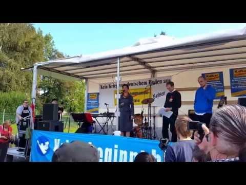 Sahra Wagenknecht live in Kalkar 03.10.15 (Teil 1/3)
