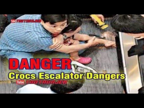 Crocs Escalator Dangers