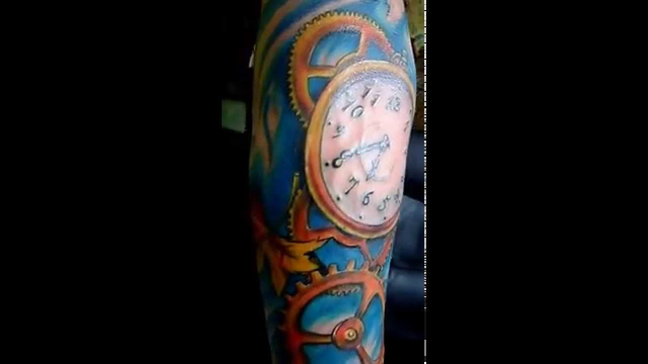 Tatuaje Rejoj Y Engranajes Tegua Tattoo Youtube