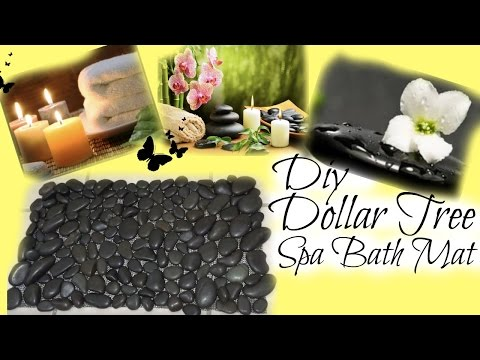 DIY |  DOLLAR TREE SPA BATH MAT