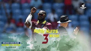 Ashly Nures's 3 Wickets Against Bangladesh || 5th Match || ODI Series || Tri-Series 2019