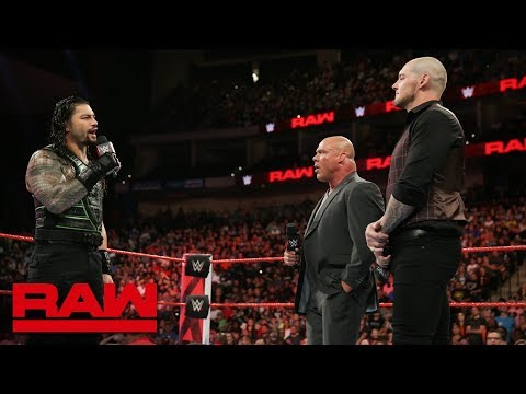 Roman Reigns confronts Constable Baron Corbin about Brock Lesnar: Raw, Aug. 6, 2018