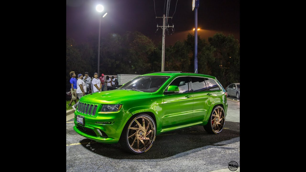 "Green Jeep Wrangler >> SRT8 Cherokee Candy Green on 28"" Rose Gold Forgiato Troppo ..."