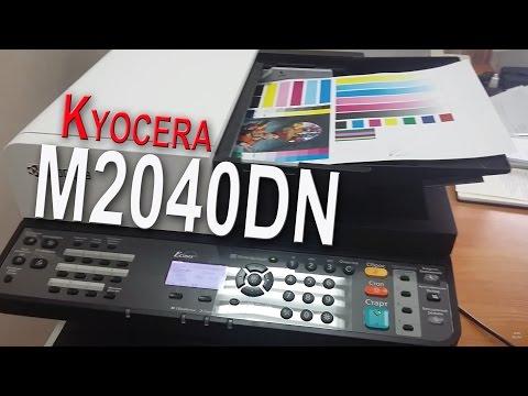 Kyocera M2040DN Первое включение Двухстороннее копирование Добавление бумаги Замена тонера