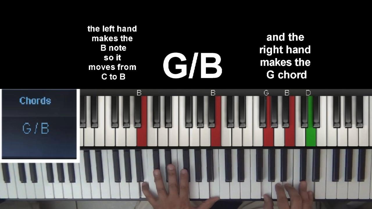 Slash chords piano youtube slash chords piano hexwebz Image collections