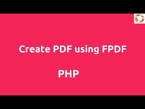 php script to create pdf from html