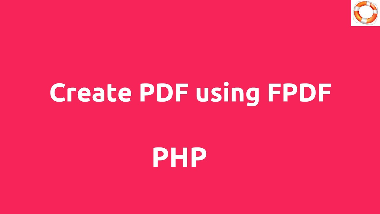 Create PDF in PHP using FPDF