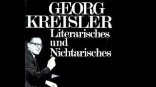 Georg Kreisler - weder noch