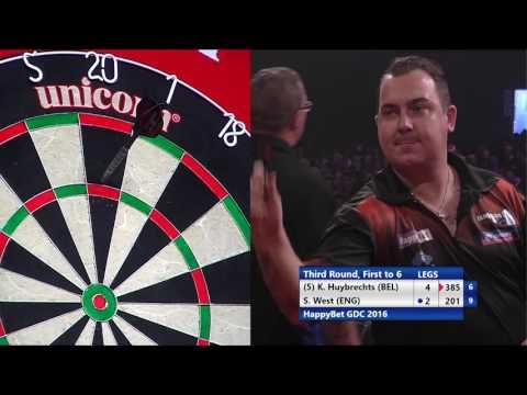 HappyBet German Darts Championship 2016 - Third Round - Kim Huybrechts v Steve West