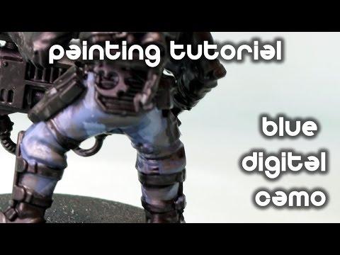 How To Paint Blue Digital Camo