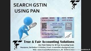 Search GSTIN by PAN