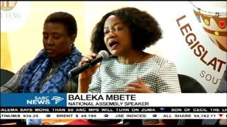 Mbete says she's still deliberating the vote of