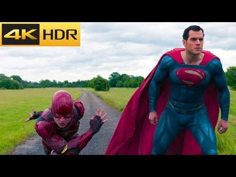 Race. Flash vs Superman   Justice League 4k HDR