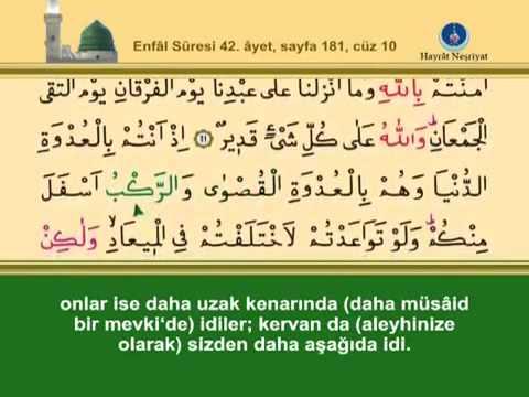 Fatih Çollak - 181.Sayfa - Enfâl Suresi (41-45)