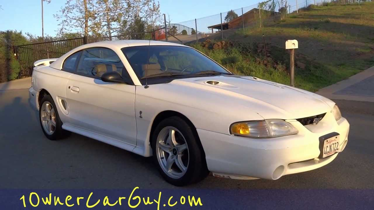 Cobra svt ford mustang 1998 4 6l v8 5 speed manual shelby coupe for sale custom suspension gt youtube