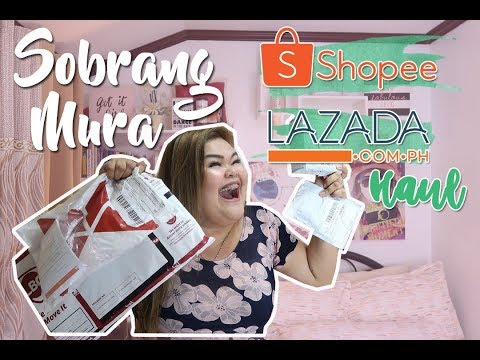 SOBRANG MURA SHOPEE AND LAZADA HAUL - Philippines