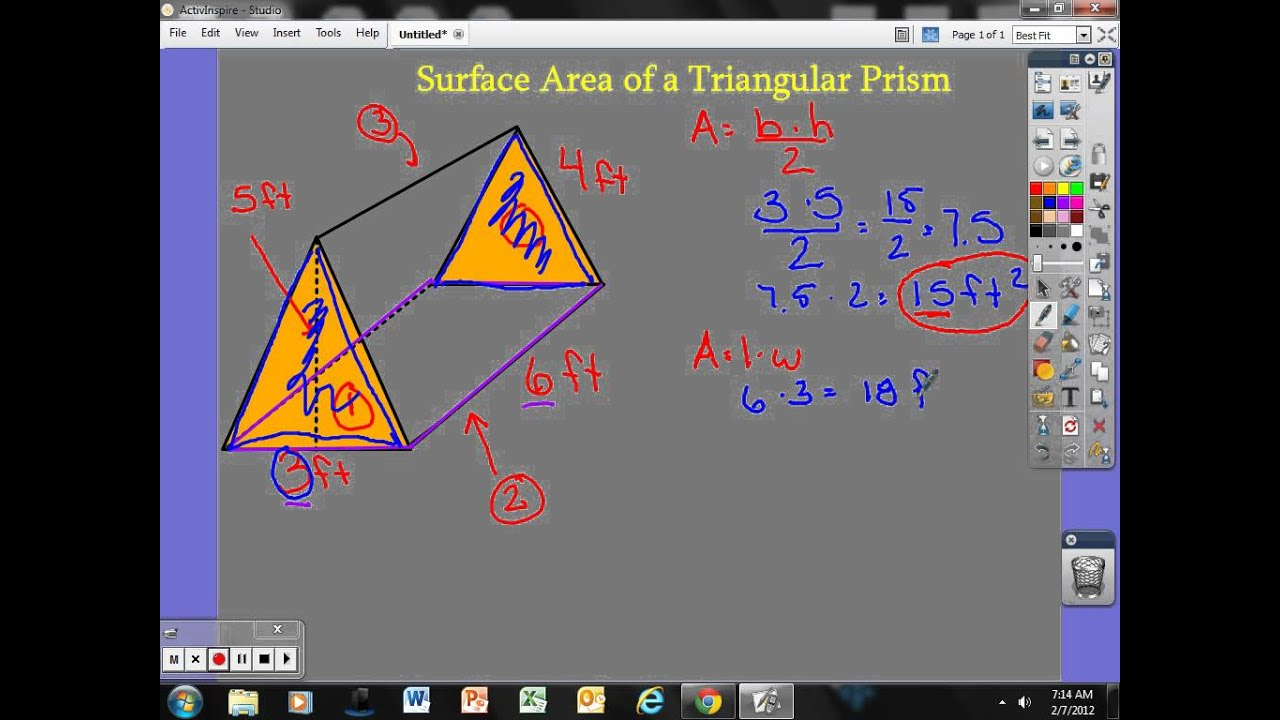 Surface area of a triangular prism youtube ccuart Gallery