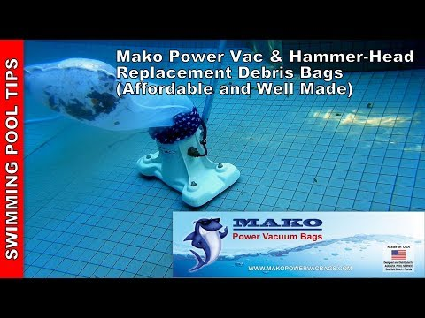 Mako Power Vacuum Bags - Affordable Replacement Bags for the Power Vac & Hammer-Head Pool Vacuums