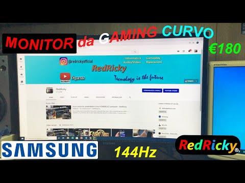 MONITOR da GAMING CURVO - Samsung C24RG50 - Unboxing, prime impressioni e montaggio - RedRicky