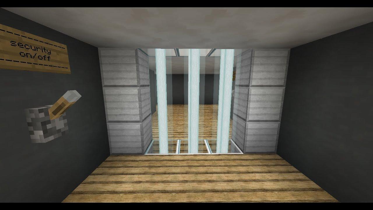& Laser Security Alarm/Door(minecraft) - YouTube
