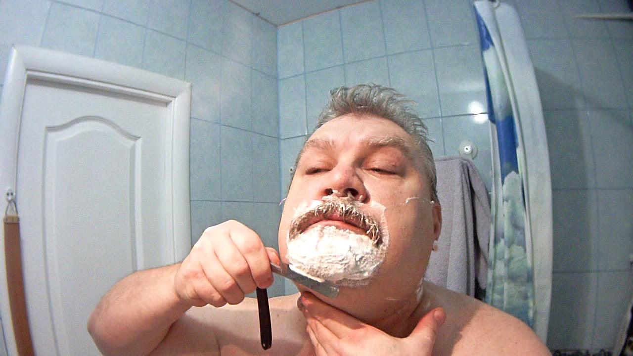 Опасная бритва Москва 1955, пробное бритьё. - YouTube