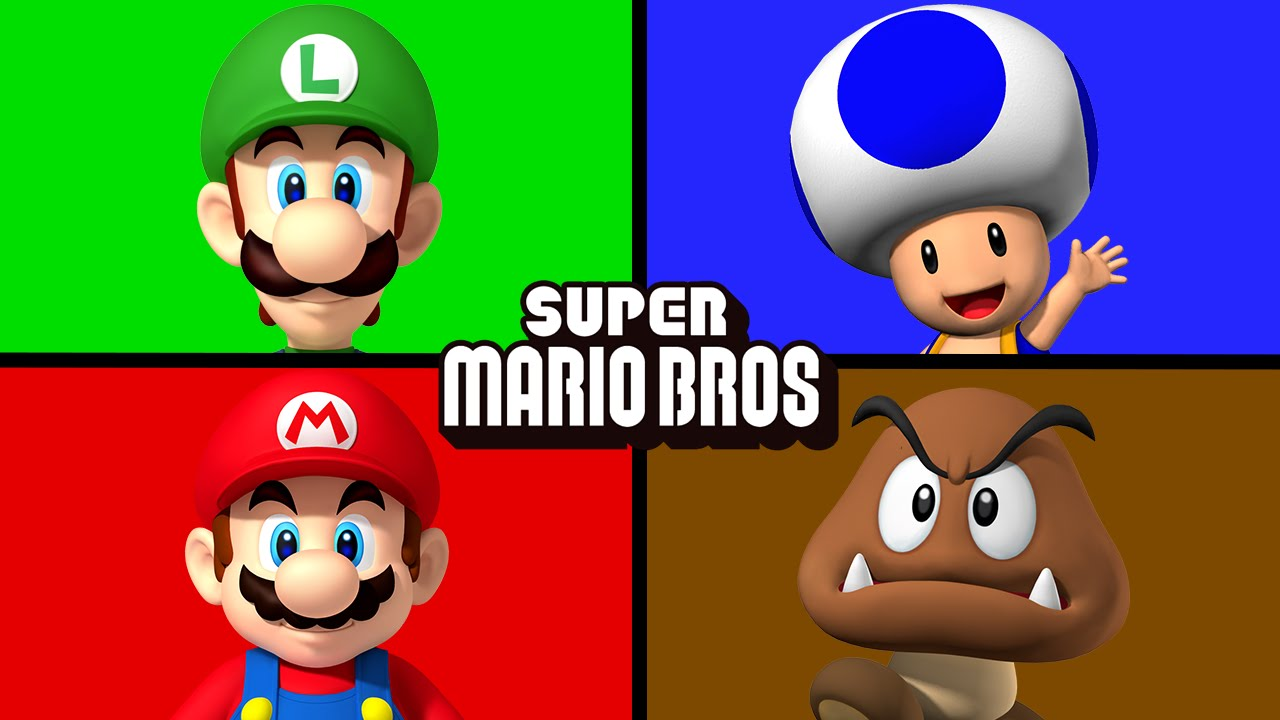 the mario bros matching learning colors juniors toons youtube