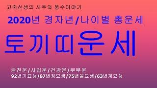 2020년 경자년 토끼띠운세/새해운세/신년운세/토정비결