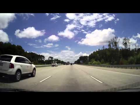 Driving from Downtown Savannah, GA through Jacksonville, Florida