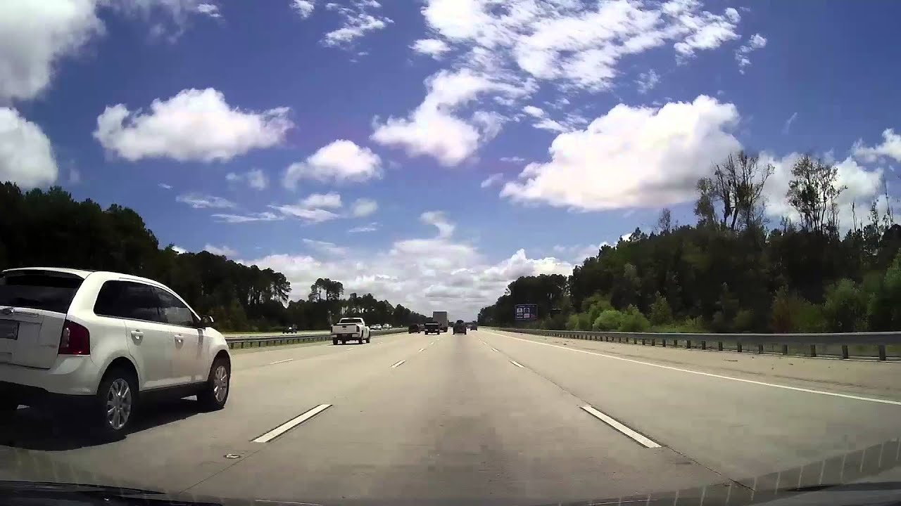Driving From Downtown Savannah Ga Through Jacksonville Florida