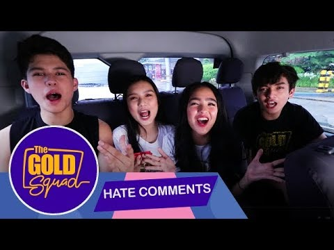 HATE COMMENTS ROASTED BY THE GOLD SQUAD! | Gold Squad Andrea, Kyle, Seth and Francine