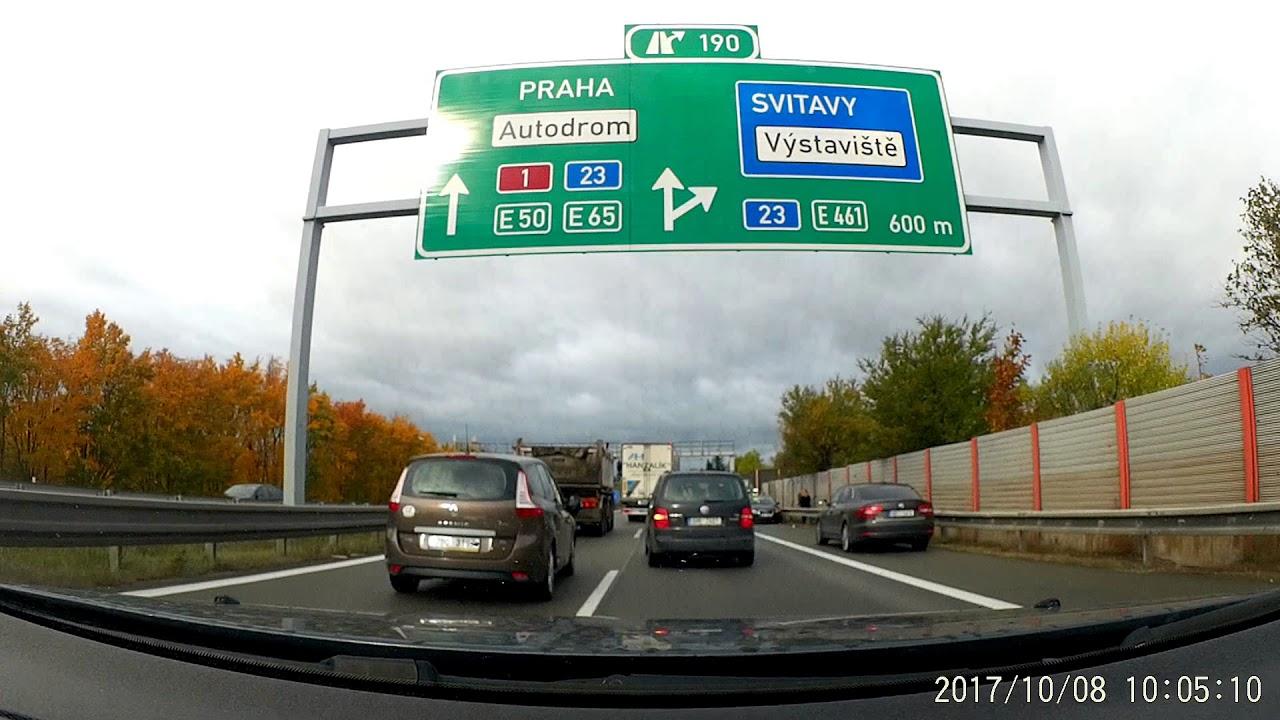 Driving Brno Plzen Czech Republic Km