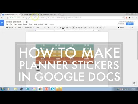 How To Make Planner Stickers Easy Sticker Making With Google Docs - Google docs planner