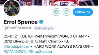 Errol Spence Reaction to the way Thurman took Manny Pacquiao's Shots