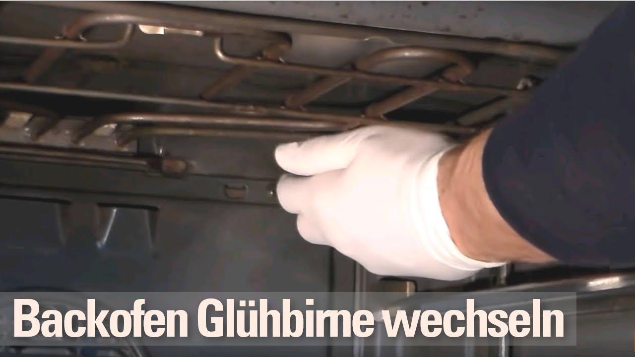 Backofen Glhbirne wechseln - YouTube