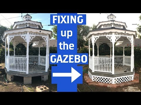 Fixing Up The Gazebo With Lattice And Brick